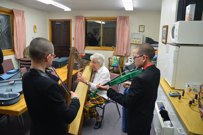 Following the official part of the evening, a jam session broke out in the fellowship room.