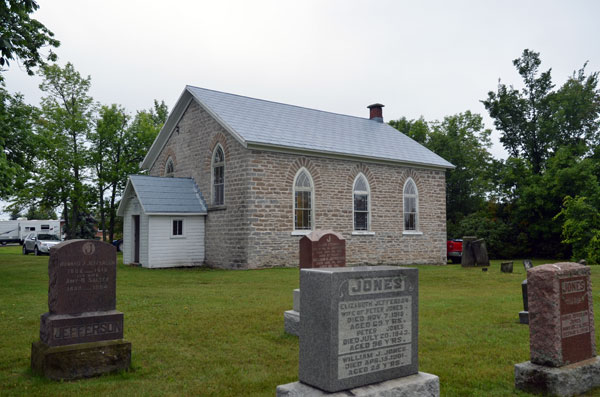 A view of the church from the adjacent cemetery.