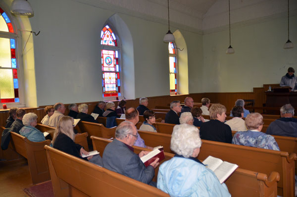 A good turnout at Prospect United Church.