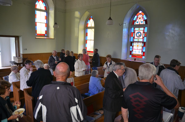 Everyone enjoyed refreshments and snacks following the service.