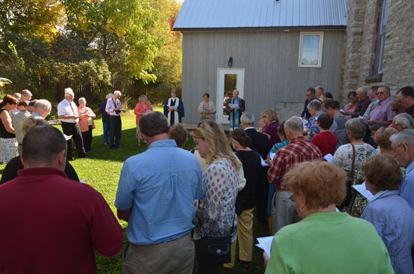 Another view of attendees of the Church Addition Dedication.