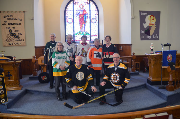 The All Stars Team (Choir and Rev. Karen) of the Old Timers League.