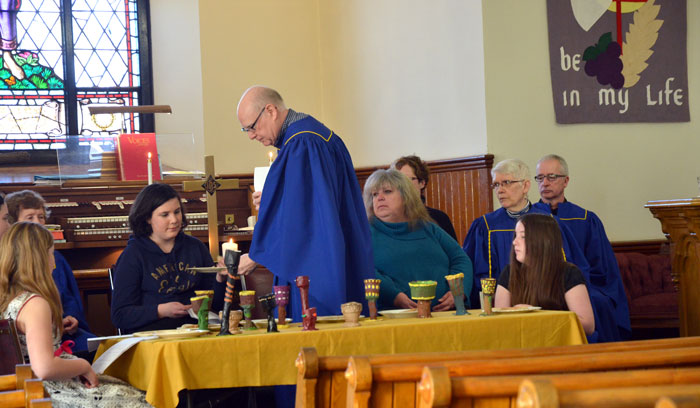 Volunteers in Munster during the dramatic presentation on Palm Sunday, 20 March 2016.